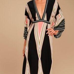 Lulu's Montecito maxi dress XS